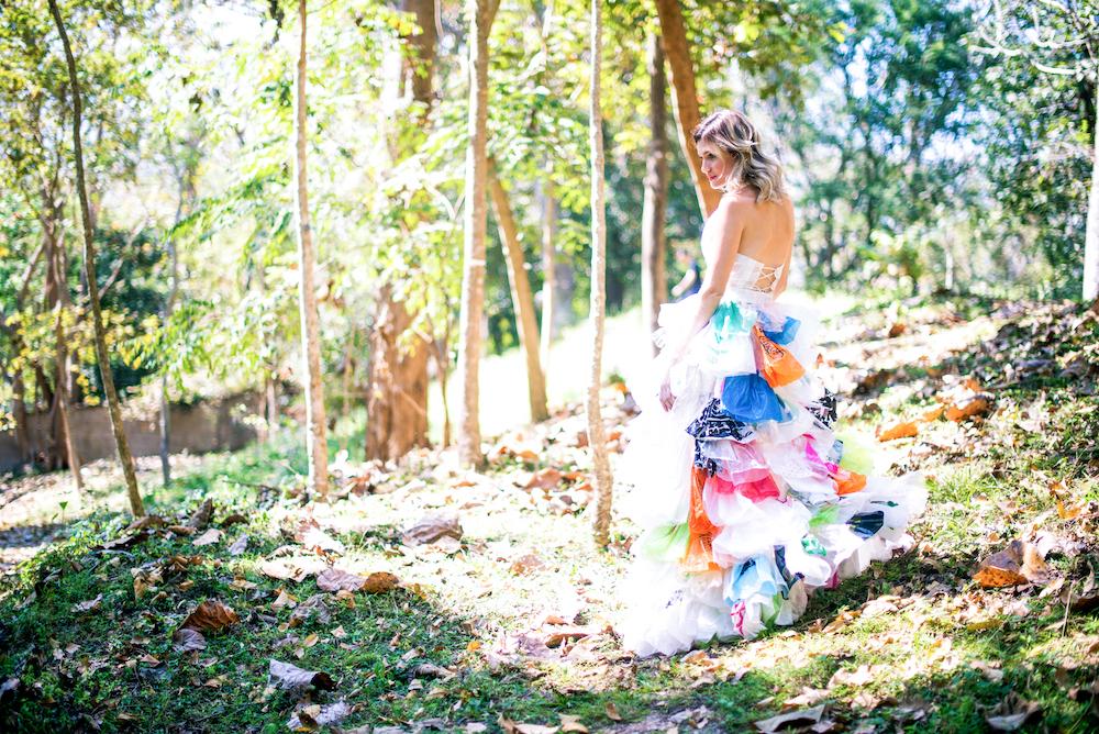 natural fibres plastic bag dress plastic clothing
