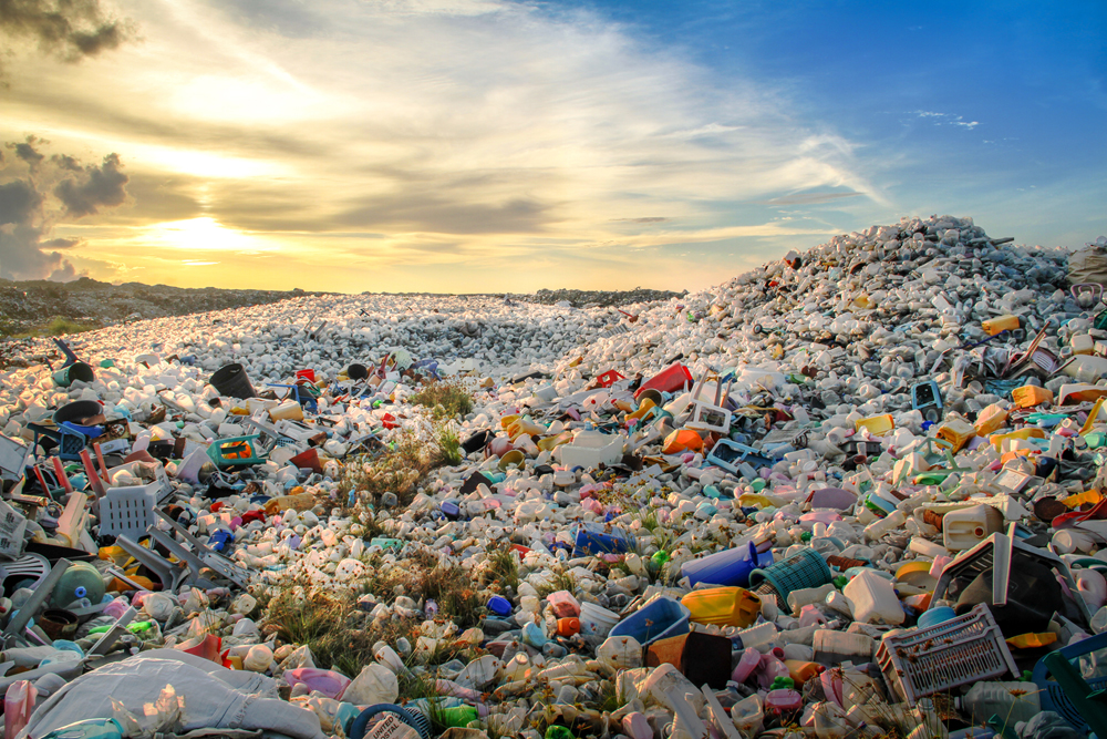 Plastic piling up as pollution
