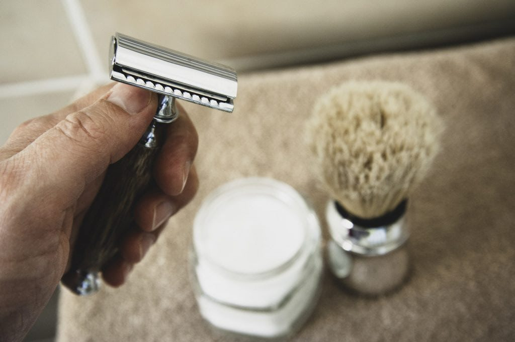 shave face safety razor equipment