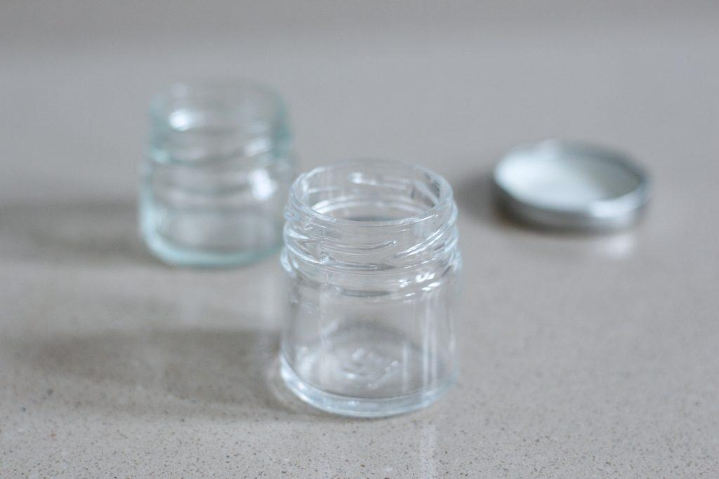 easy DIY lip balm pot from repurposed jam jar