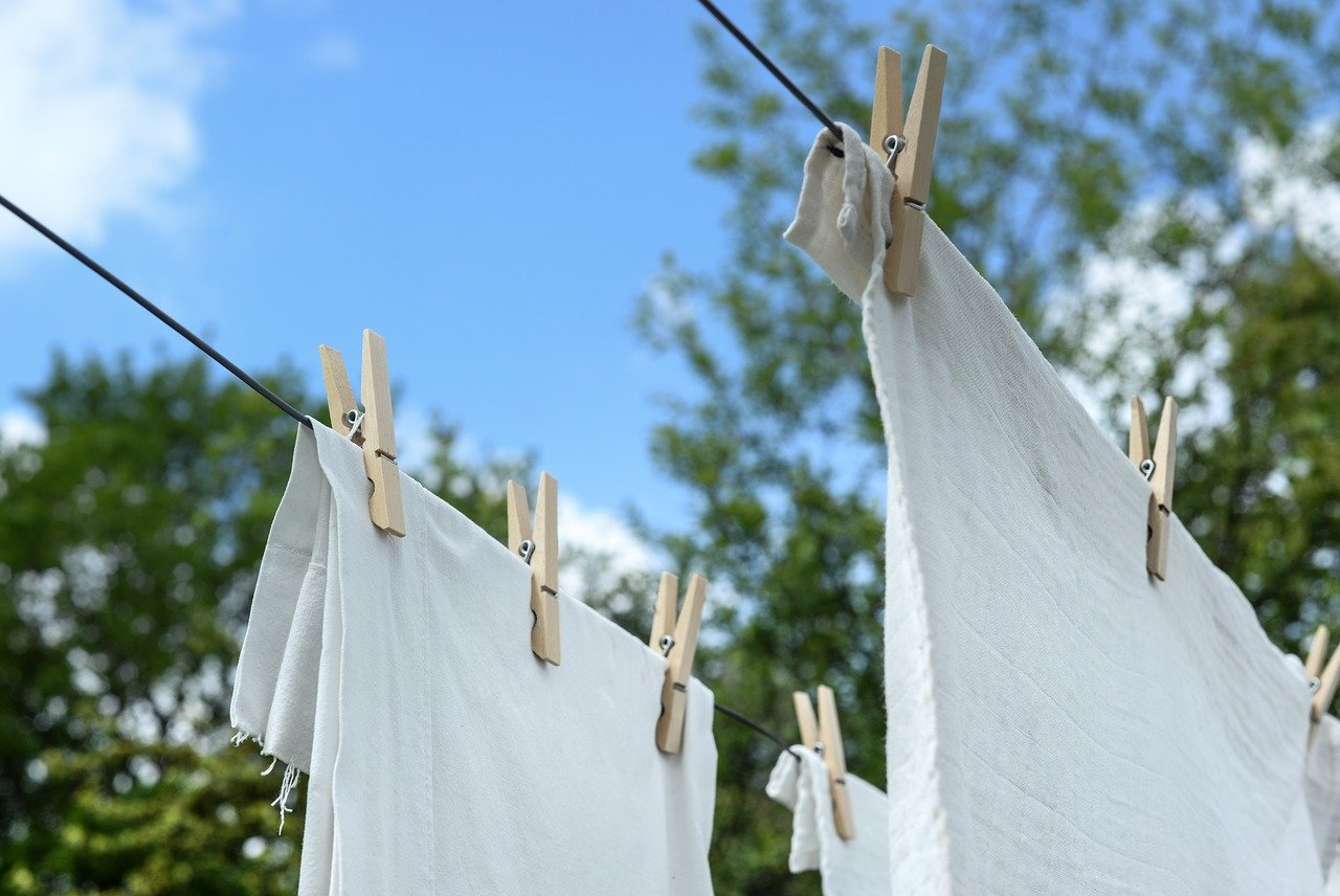 eco washing tip is to hang clothes up with cloths pegs to air dry