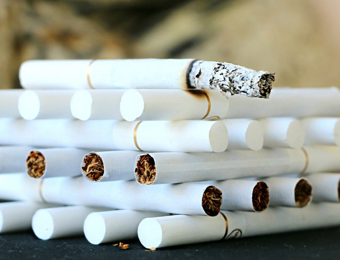 cigarrettes in a stack