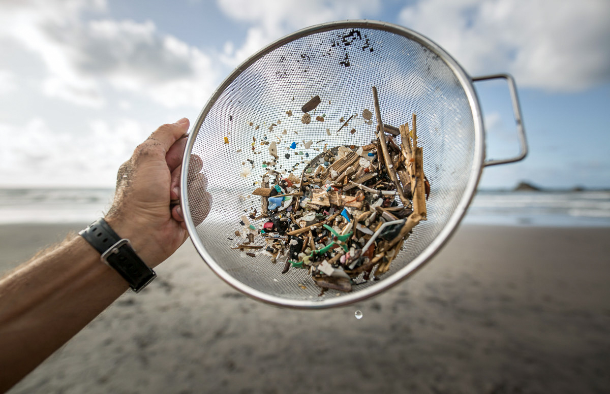 A save showing the extent of microplastic pollution