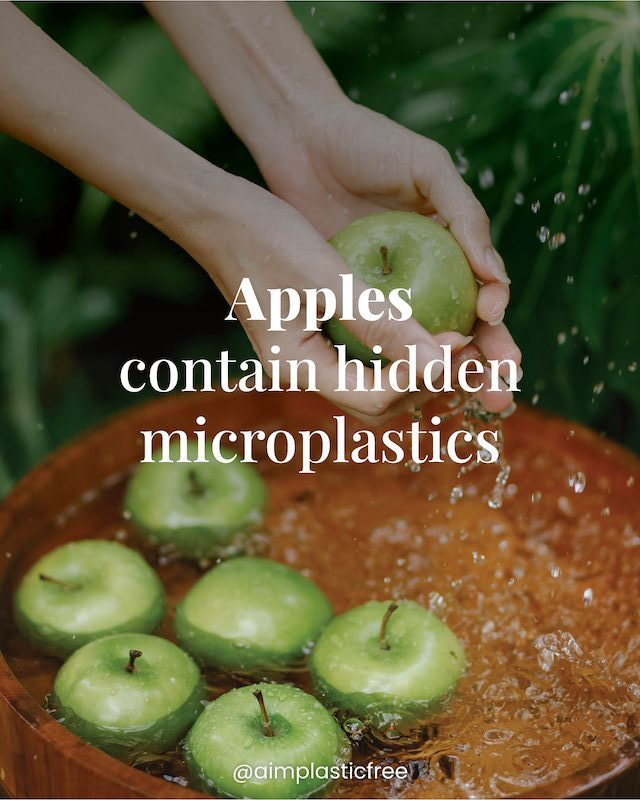 Apples contain hidden microplastic