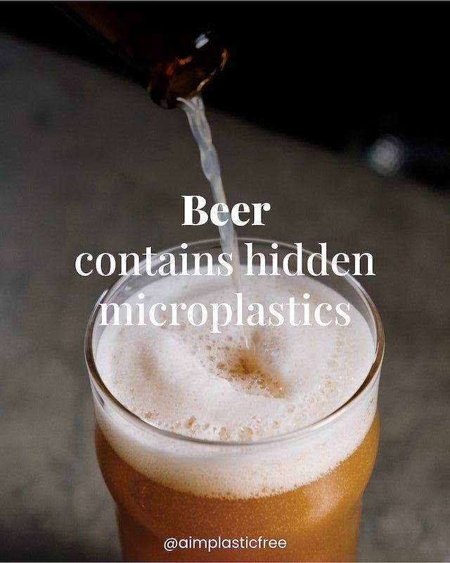 Beer contains hidden microplastic
