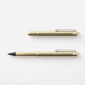 Trc Brass Plastic Free Rollerball Pen Designed by Traveler's Company