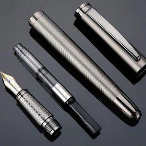 Personalized Gunmetal color Plastic Free Fountain Pen