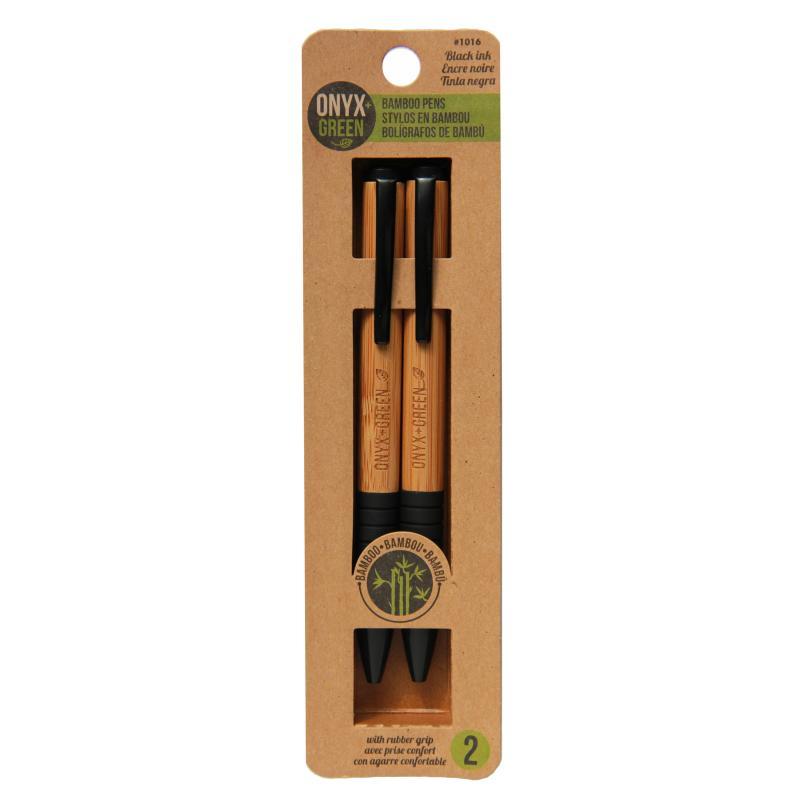 Bamboo Ballpoint Pen – Black 2pk
